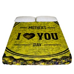 Happy Mother Day Fitted Sheet (california King Size) by Simbadda