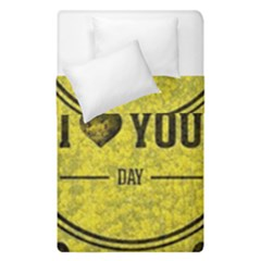 Happy Mother Day Duvet Cover Double Side (single Size) by Simbadda
