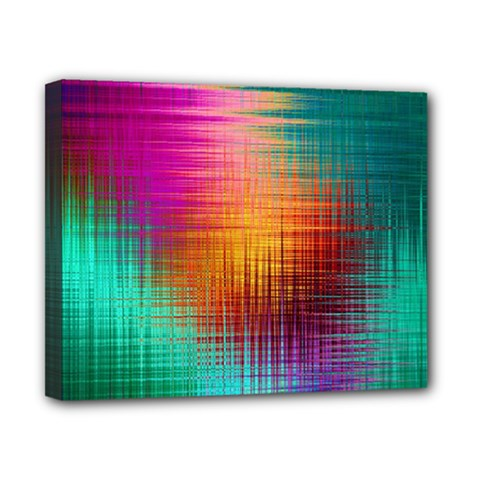Colourful Weave Background Canvas 10  X 8  by Simbadda