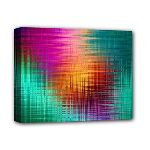 Colourful Weave Background Deluxe Canvas 14  X 11
