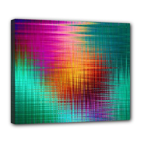 Colourful Weave Background Deluxe Canvas 24  X 20
