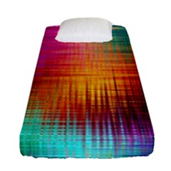 Colourful Weave Background Fitted Sheet (single Size) by Simbadda