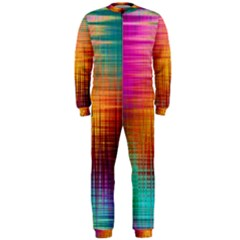 Colourful Weave Background Onepiece Jumpsuit (men)  by Simbadda
