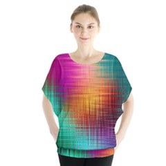 Colourful Weave Background Blouse by Simbadda