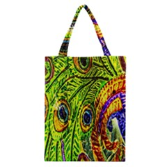 Peacock Feathers Classic Tote Bag by Simbadda