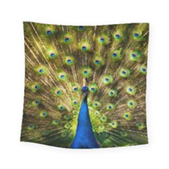 Peacock Bird Square Tapestry (small) by Simbadda
