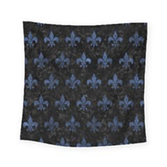 Royal1 Black Marble & Blue Stone (r) Square Tapestry (small) by trendistuff