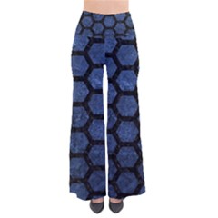 Hexagon2 Black Marble & Blue Stone (r) So Vintage Palazzo Pants by trendistuff