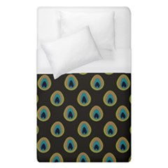 Peacock Inspired Background Duvet Cover (single Size) by Simbadda