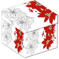 Poinsettia Flower Coloring Page Storage Stool 12   by Simbadda