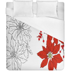 Poinsettia Flower Coloring Page Duvet Cover (california King Size)