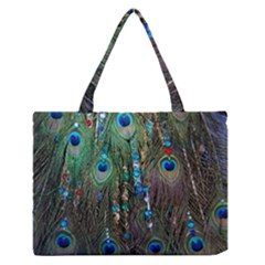 Peacock Jewelery Medium Zipper Tote Bag by Simbadda