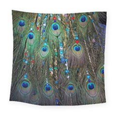 Peacock Jewelery Square Tapestry (large) by Simbadda