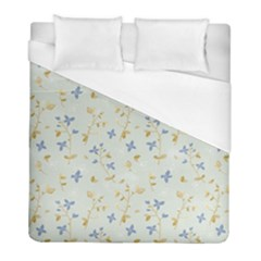 Vintage Hand Drawn Floral Background Duvet Cover (full/ Double Size) by TastefulDesigns