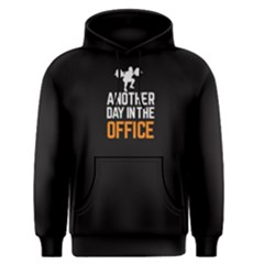 Black Another Day In The Office Men s Pullover Hoodie by FunnySaying