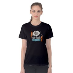Black Hello Office Party Planning Commitee Women s Cotton Tee