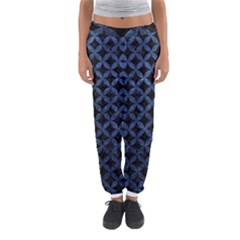 Circles3 Black Marble & Blue Stone Women s Jogger Sweatpants by trendistuff