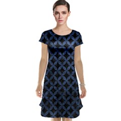 Circles3 Black Marble & Blue Stone Cap Sleeve Nightdress by trendistuff