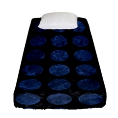 Circles1 Black Marble & Blue Stone Fitted Sheet (single Size)