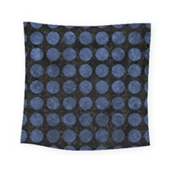 Circles1 Black Marble & Blue Stone Square Tapestry (small) by trendistuff