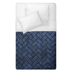 Brick2 Black Marble & Blue Stone (r) Duvet Cover (single Size) by trendistuff