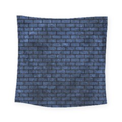 Brick1 Black Marble & Blue Stone (r) Square Tapestry (small) by trendistuff