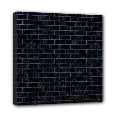 Brick1 Black Marble & Blue Stone Mini Canvas 8  X 8  (stretched) by trendistuff