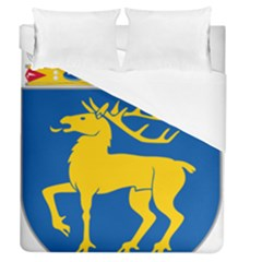 Coat Of Arms Of Aland Duvet Cover (queen Size) by abbeyz71