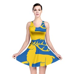 Coat Of Arms Of Aland Reversible Skater Dress by abbeyz71