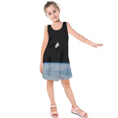 Amazing Stunning Astronaut Amazed Kids  Sleeveless Dress by Simbadda