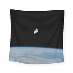 Amazing Stunning Astronaut Amazed Square Tapestry (small) by Simbadda