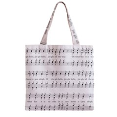 Jingle Bells Song Christmas Carol Grocery Tote Bag