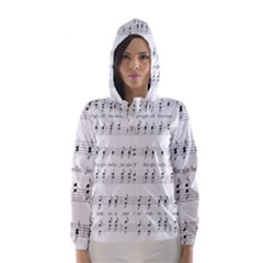Jingle Bells Song Christmas Carol Hooded Wind Breaker (women) by Simbadda