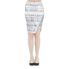 Jingle Bells Song Christmas Carol Midi Wrap Pencil Skirt