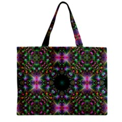 Digital Kaleidoscope Zipper Mini Tote Bag by Simbadda