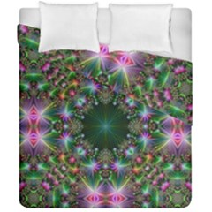 Digital Kaleidoscope Duvet Cover Double Side (california King Size) by Simbadda