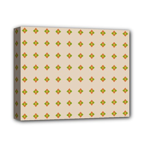 Pattern Background Retro Deluxe Canvas 14  X 11  by Simbadda