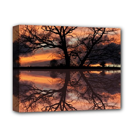 Aurora Sunset Sun Landscape Deluxe Canvas 14  X 11  by Simbadda