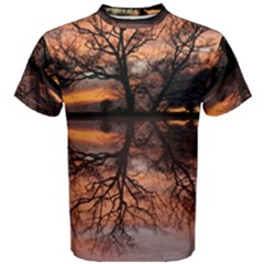 Aurora Sunset Sun Landscape Men s Cotton Tee by Simbadda