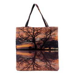 Aurora Sunset Sun Landscape Grocery Tote Bag by Simbadda