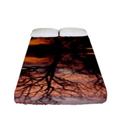 Aurora Sunset Sun Landscape Fitted Sheet (full/ Double Size) by Simbadda