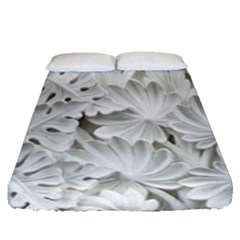 Pattern Motif Decor Fitted Sheet (queen Size)