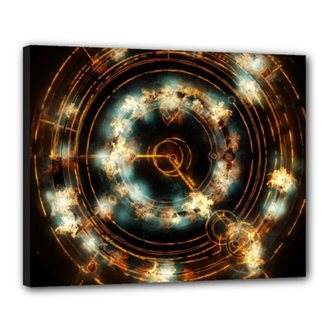 Science Fiction Energy Background Canvas 20  X 16  by Simbadda