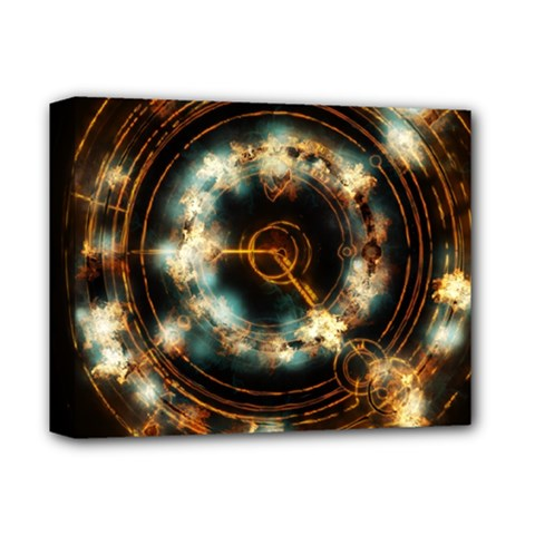 Science Fiction Energy Background Deluxe Canvas 14  X 11  by Simbadda