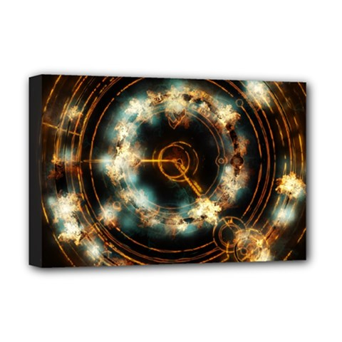 Science Fiction Energy Background Deluxe Canvas 18  X 12   by Simbadda