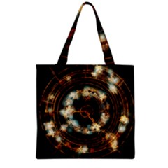 Science Fiction Energy Background Grocery Tote Bag by Simbadda
