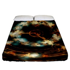 Science Fiction Energy Background Fitted Sheet (king Size) by Simbadda