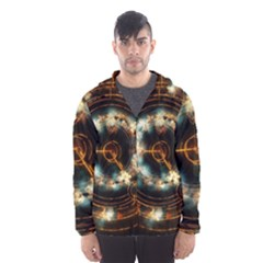 Science Fiction Energy Background Hooded Wind Breaker (men) by Simbadda