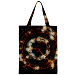 Science Fiction Energy Background Zipper Classic Tote Bag by Simbadda