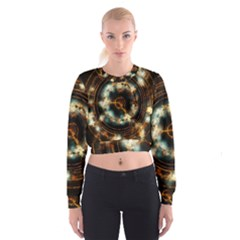 Science Fiction Energy Background Women s Cropped Sweatshirt
